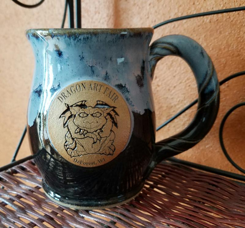 AzulMug from Montgomery Mugs designed for the Dragon Art Fair!